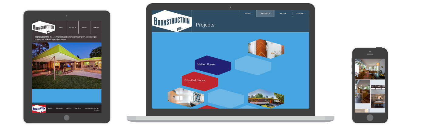 Bronstruction website
