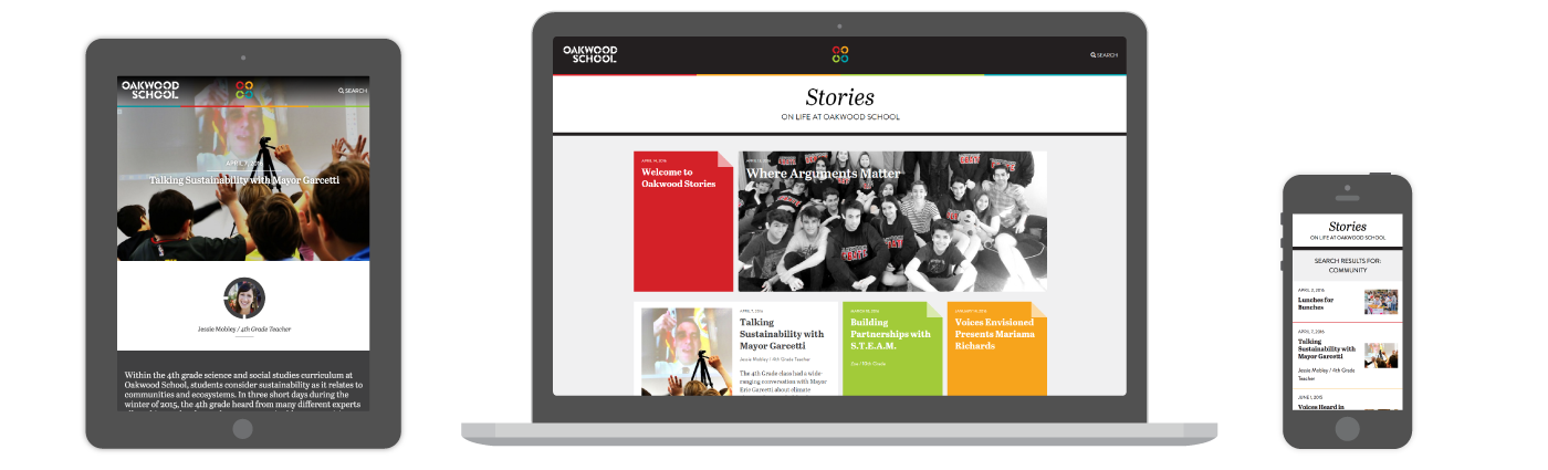Oakwood Stories website